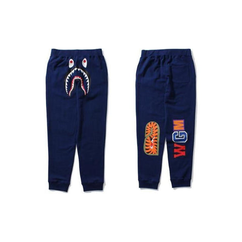 Bape Shark Slim Sweatpants (Navy)