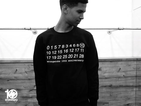 WRKS10TH - WRONG CALENDAR NUMBERS BLACK CREWNECK (Black)