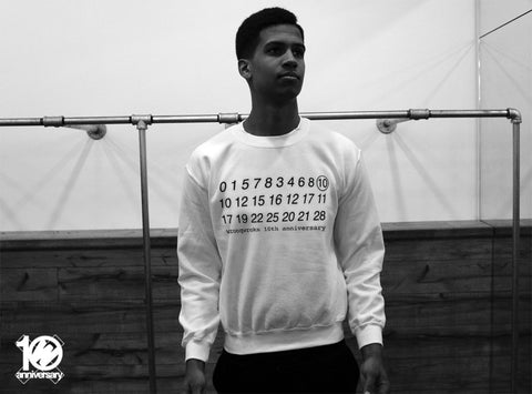 WRKS10TH - WRONG CALENDAR NUMBERS BLACK CREWNECK (White)