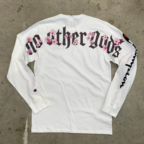 """NO OTHER GODS"" Champion Floral Arc Logo L/S Tee"