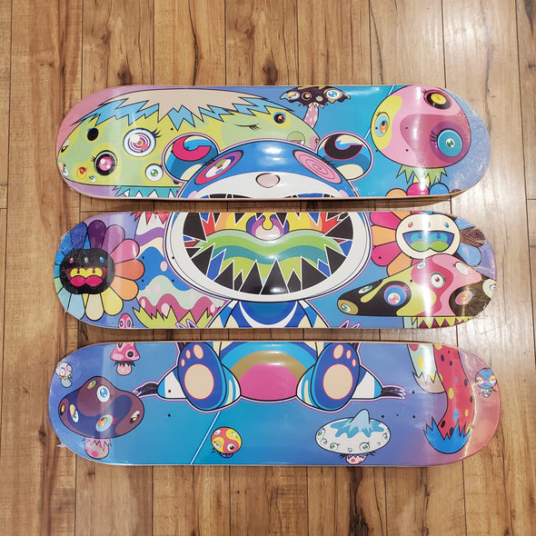 "Takashi Murakami ComplexCon Mutated Skateboard Deck ""Set of 3"" (Multicolor)"
