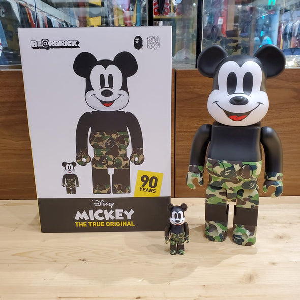 Be@rbrick Mickey Mouse x BAPE Set 400% & 100%