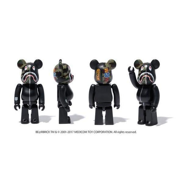BAPE Shark Camo Bearbrick 1000% (Black)
