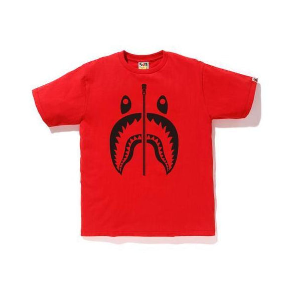Bape Bicolor Shark Tee (Red)