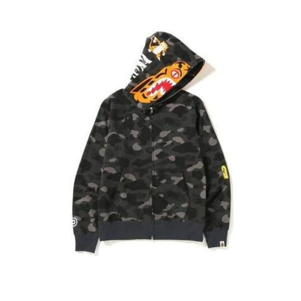 Bape Color Camo Tiger Zip Up Hoodie (Black)