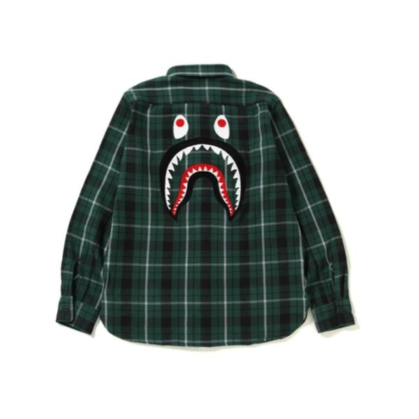 d2978f9f Bape Shark Flannel Check Shirt – Superbored Clothing Ltd.