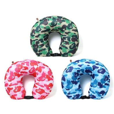 Bape ABC Camo Neck Pillow (Green/Blue/Pink)