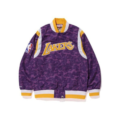 Bape x Mitchell & Ness Lakers Warm Up Jacket (Purple)