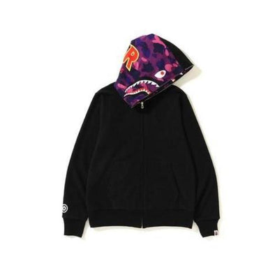 Bape Color Camo Reversible Shark Hoodie (Purple)