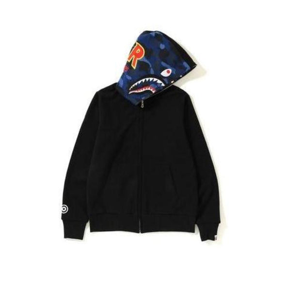 Bape Color Camo Reversible Shark Hoodie (Blue)