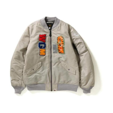 Bape Shark Ma-1 Ma-1 (Grey)