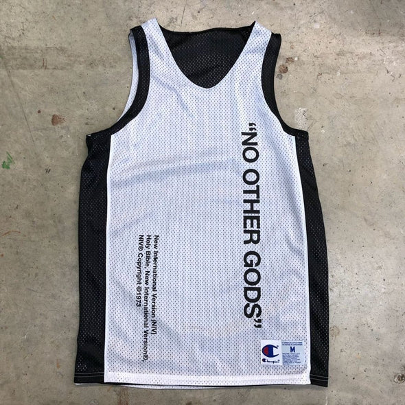 """NO OTHER GODS"" Champion Reversible Jersey Tank Top (Black)"