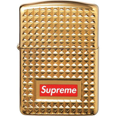 Supreme Diamond Cut Zippo Lighter (Gold)