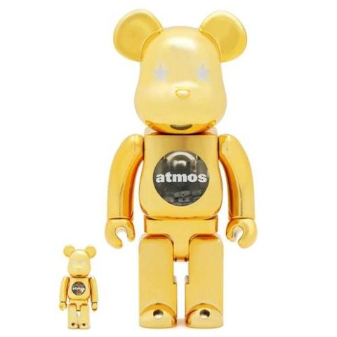 atmos Gold Chrome Be@rbrick 100% & 400%