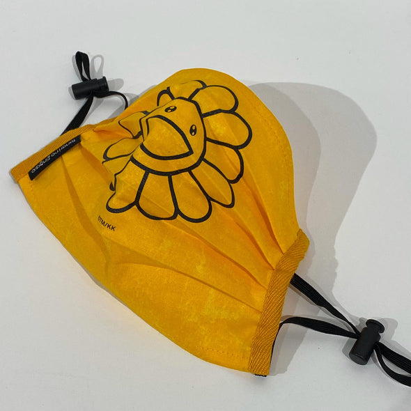 Takashi Murakami Kaikai Kiki Flower Face Mask (Orange/Black)