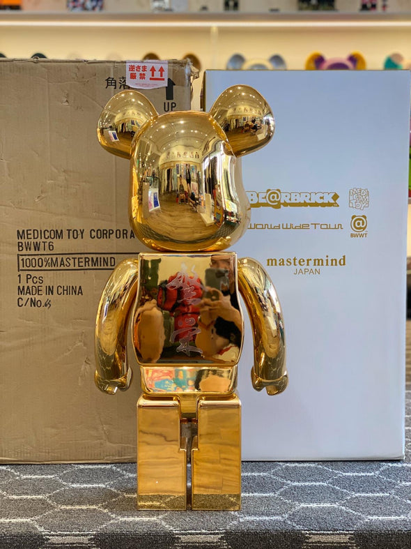 Be@rbrick World Wide Tour x Mastermind Japan 1000% Gold