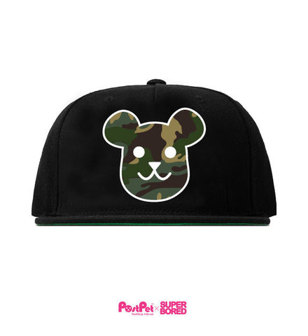 Superbored x PostPet Camo Bear Head Snapback