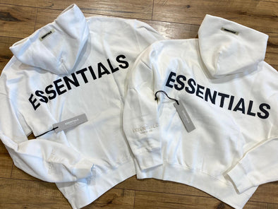 FEAR OF GOD ESSENTIALS 3M Logo Hoodie (White)