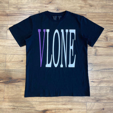 Vlone Front Logo Tee (Black/Purple)