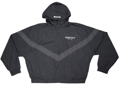 FEAR OF GOD ESSENTIALS Zip Anorak Windbreaker Jacket Black