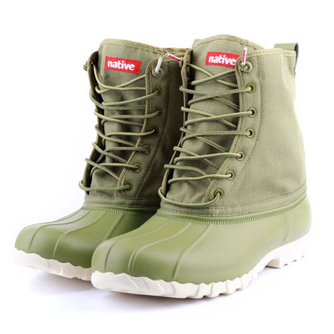 NATIVE Jimmy Boots for Women in Bunker Green