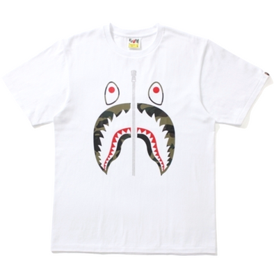 Bape 1st Camo Shark Tee (White/Green)