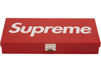 Supreme Large Metal Storage Box Red