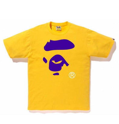 Bape Ape face Tee (Purple/Yellow)