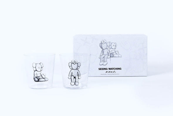 KAWS Seeing/Watching Glass Cup Set B