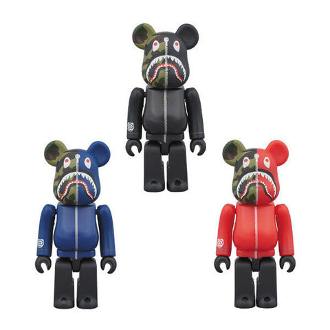 Bape Camo Shark 400% Be@rbrick Set