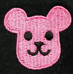 Superbored x PostPet Pink Bear Head Embroidery Beanie (Pink)