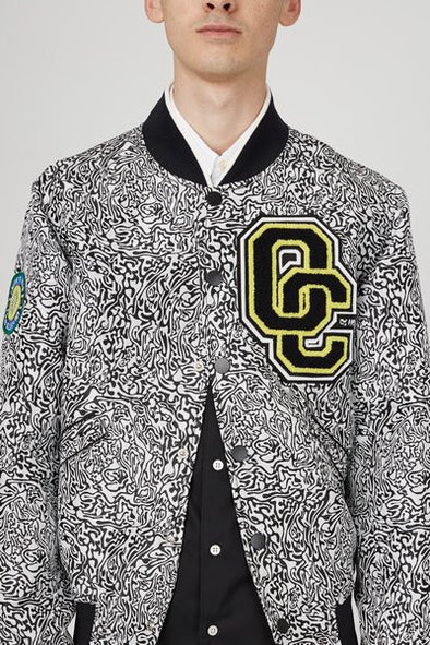 OPENING CEREMONY CABBAGE JACQUARD VARSITY JACKET