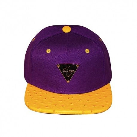 HATER Purple with Yellow Ostrich