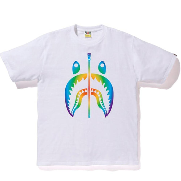 Bape Rainbow Shark Tee (White)