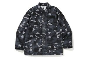 Bape Graduation Black Camo Military Water Resistant Jacket