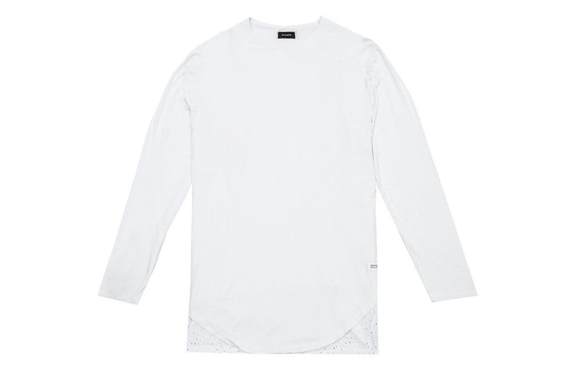STAMPD SPECKLED DOUBLE LAYER LONG SLEEVE (White)
