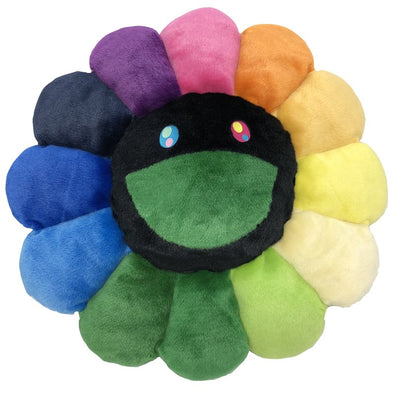 "Takashi Murakami Rainbow ""Black Face"" Flower Cushion (2 Size)*"