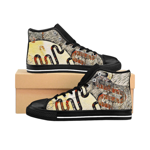 Abstract Women's High-top Sneakers