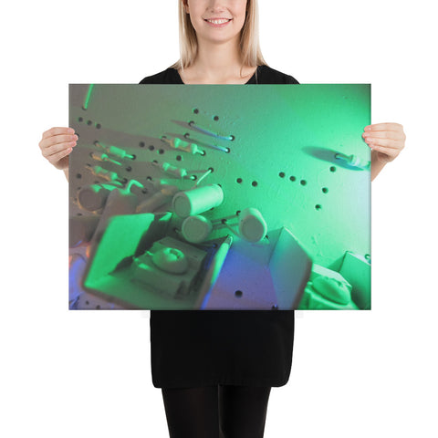 Green City Lights on Canvas
