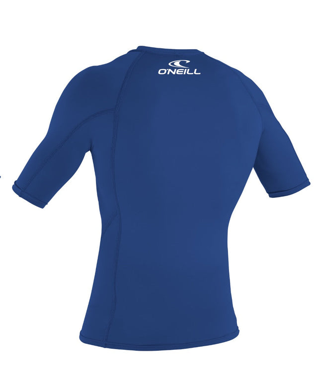 Basic Skins Short Sleeve Rash Vest - Pacific