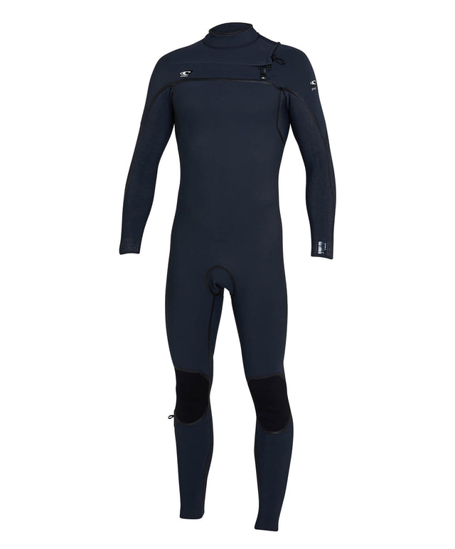 Psycho One 3/2mm Steamer Chest Zip Wetsuit - Gunmetal/Acidwash
