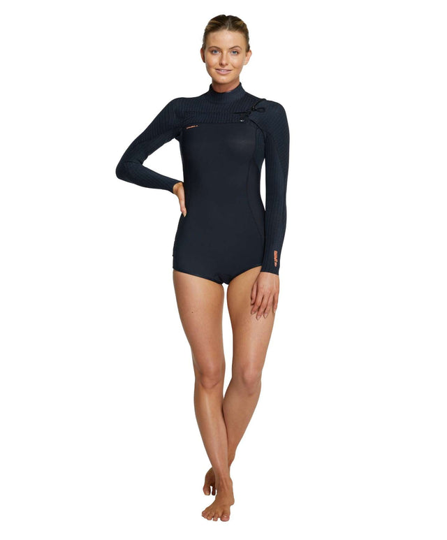Womens Hyperfreak 2mm Long Sleeve Spring Suit Wetsuit - Black