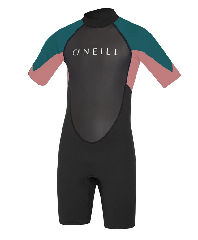 Girls Reactor II Short Arm Spring Suit Wetsuit - Black/Rose