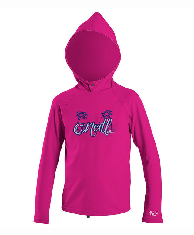 Girls Toddler Premium Hooded Rashie - Berry