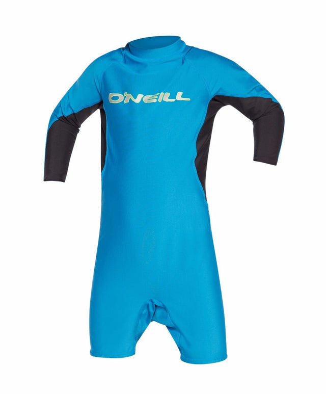 Toddler Ozone Long Arm Spring Rash Suit - Sky Black Lime