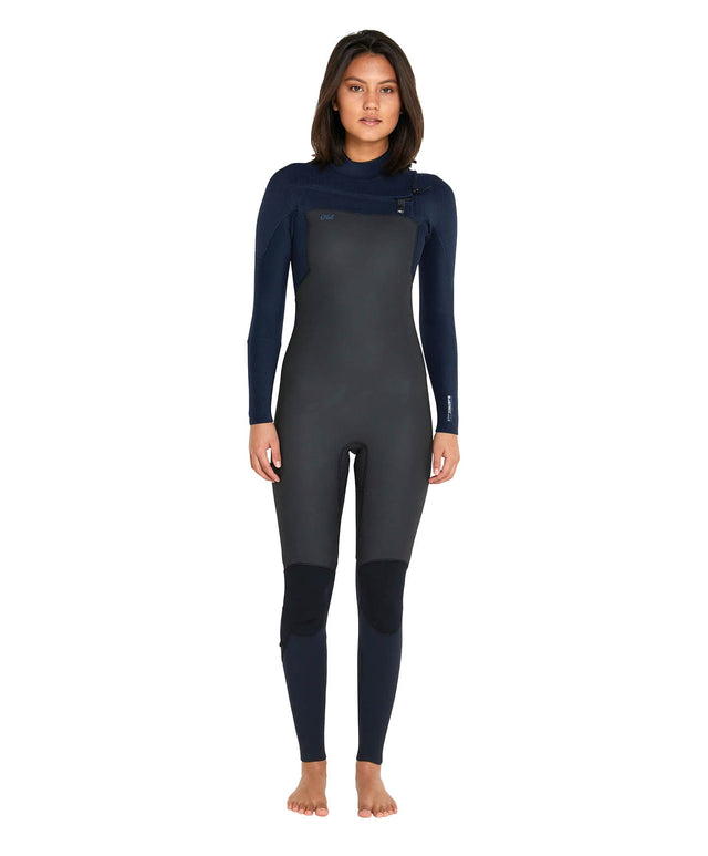 Womens Blueprint 3/2+ Steamer Chest Zip Wetsuit - Black/Abyss
