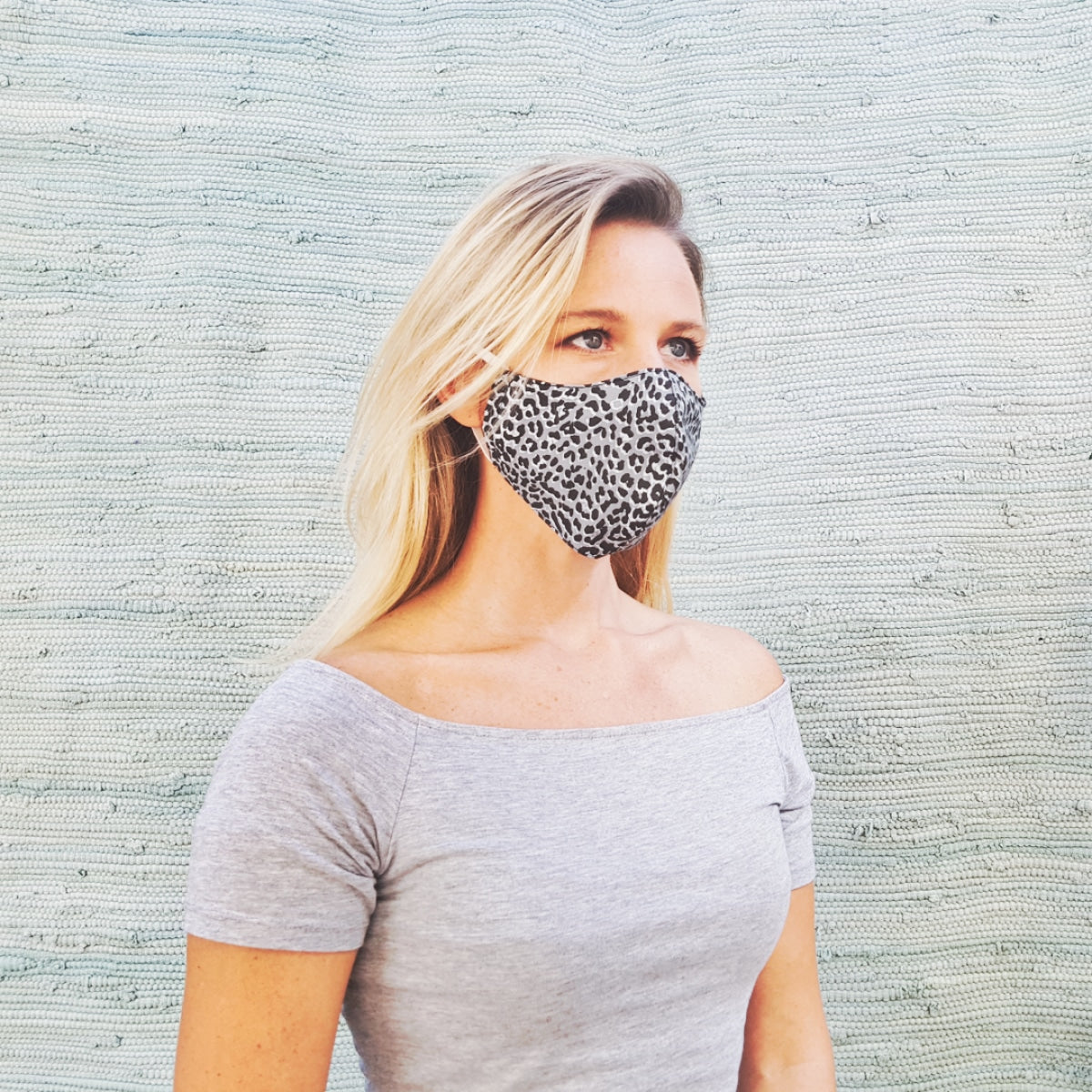 Cotton mask - leopard print - Molteno