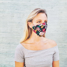 Load image into Gallery viewer, Cotton mask - multi-coloured floral print - Molteno