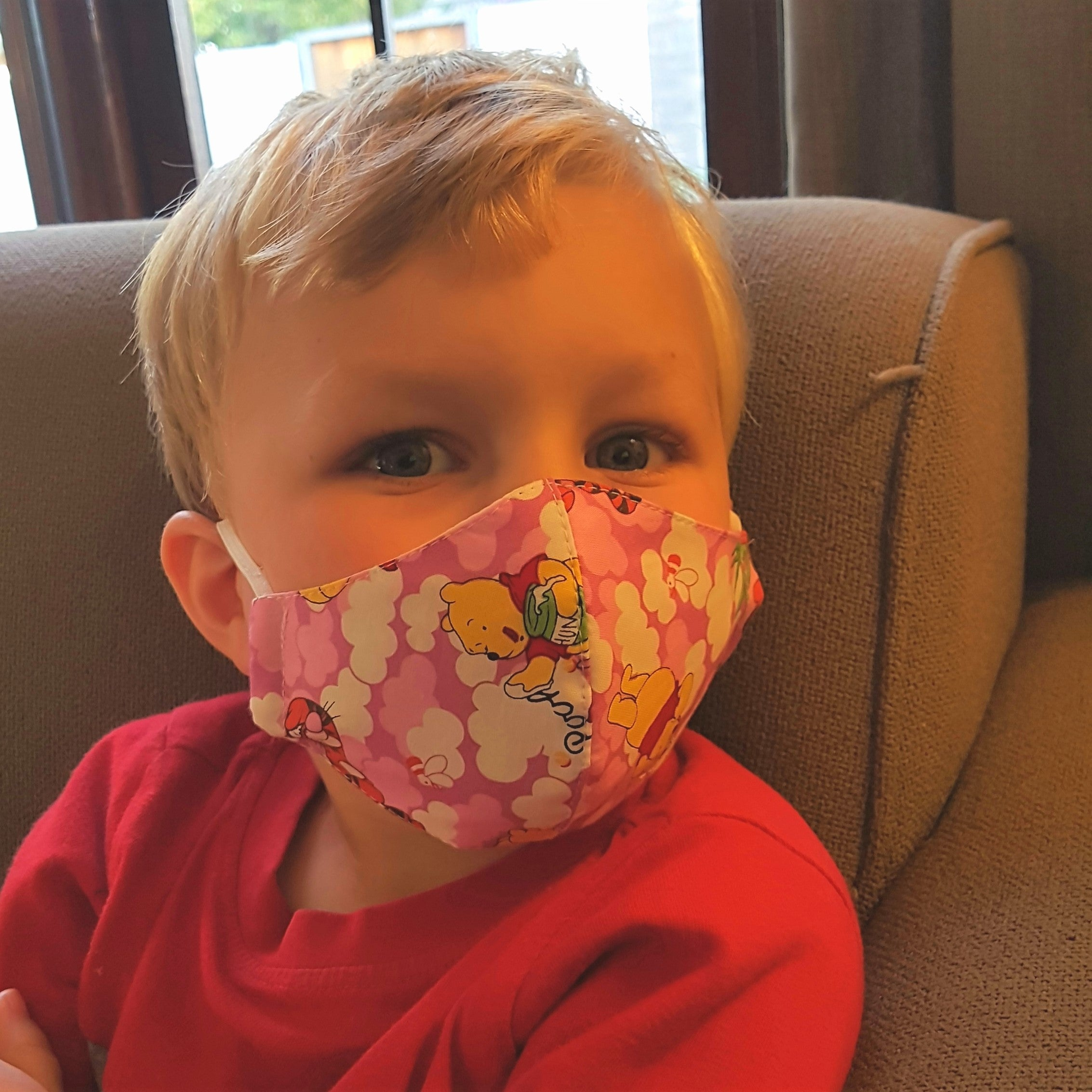 Cotton mask for infant - Winnie the Pooh