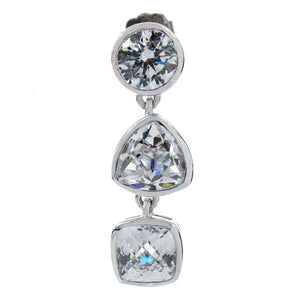 Ladies' Earrings GC Watches CWE81109 Silver (4 Cm)